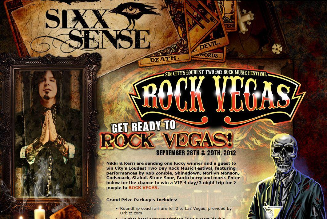 Sixx Sense's Rock Vegas Contest