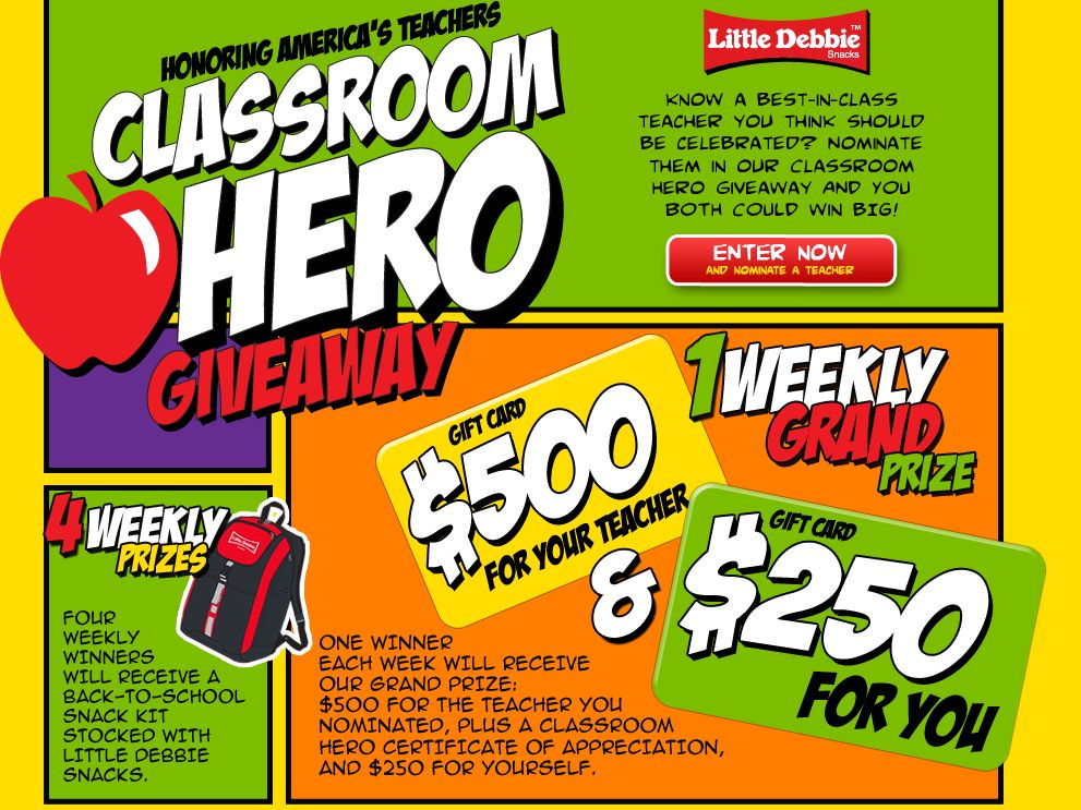 The Little Debbie Classroom Hero Sweepstakes