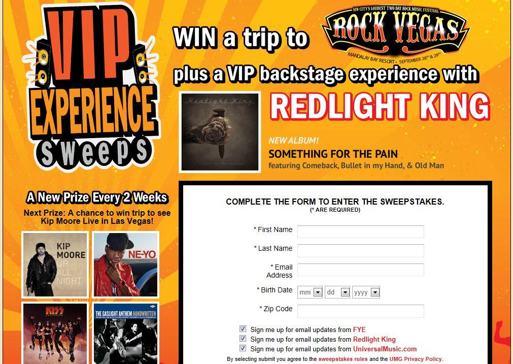 FYE VIP Experience Sweepstakes