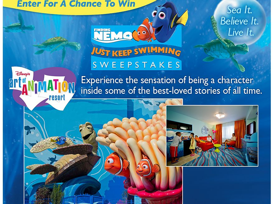 Disney Finding Nemo: Just Keep Swimming Sweepstakes!