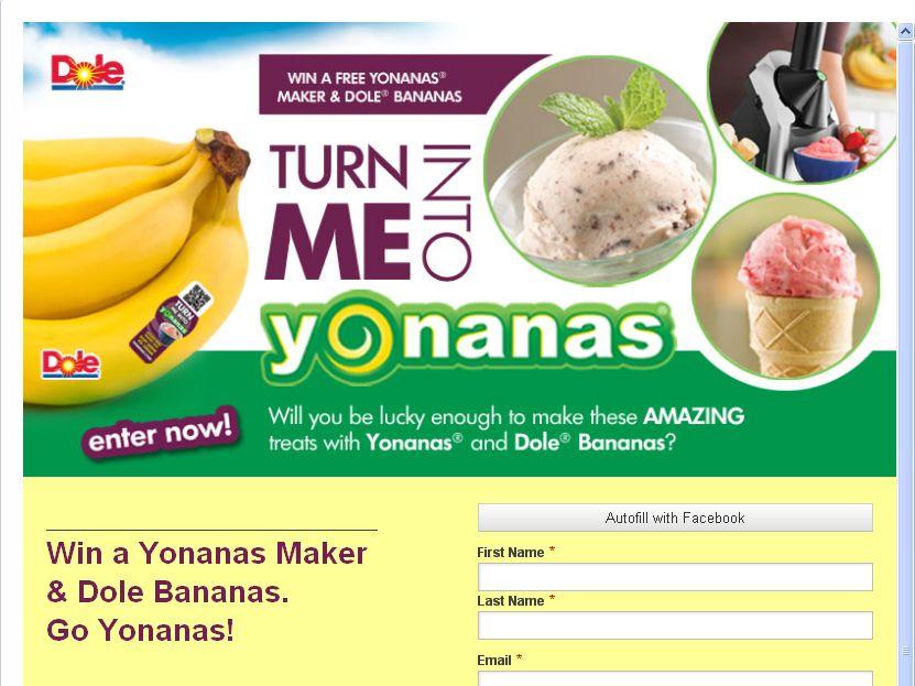 Turn Me Into Yonanas Sweepstakes!