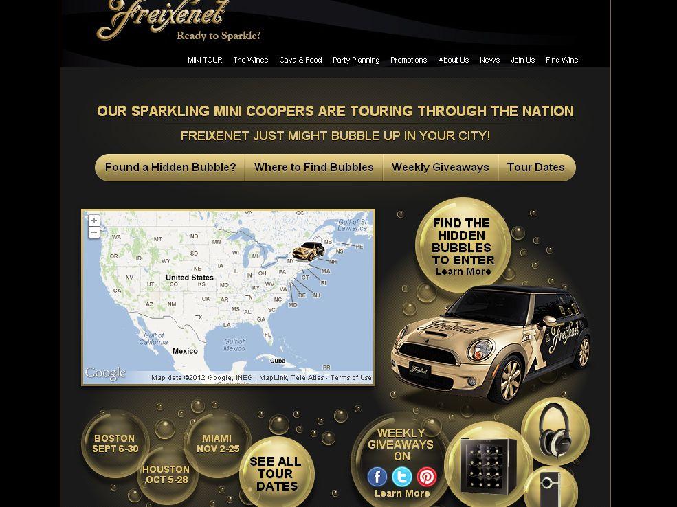 The Freixenet  Drive a MINI Cooper Giveaway Promotion!(code)