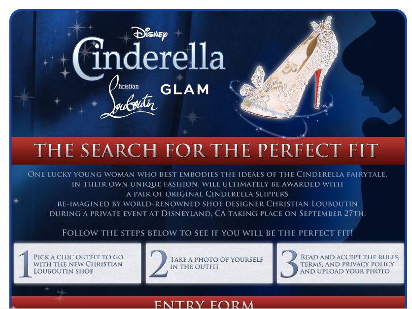 Disney Cinderella Slipper Contest!
