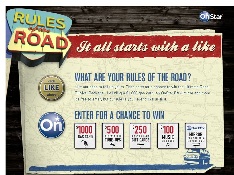 OnStar Rules of the Road Sweepstakes!