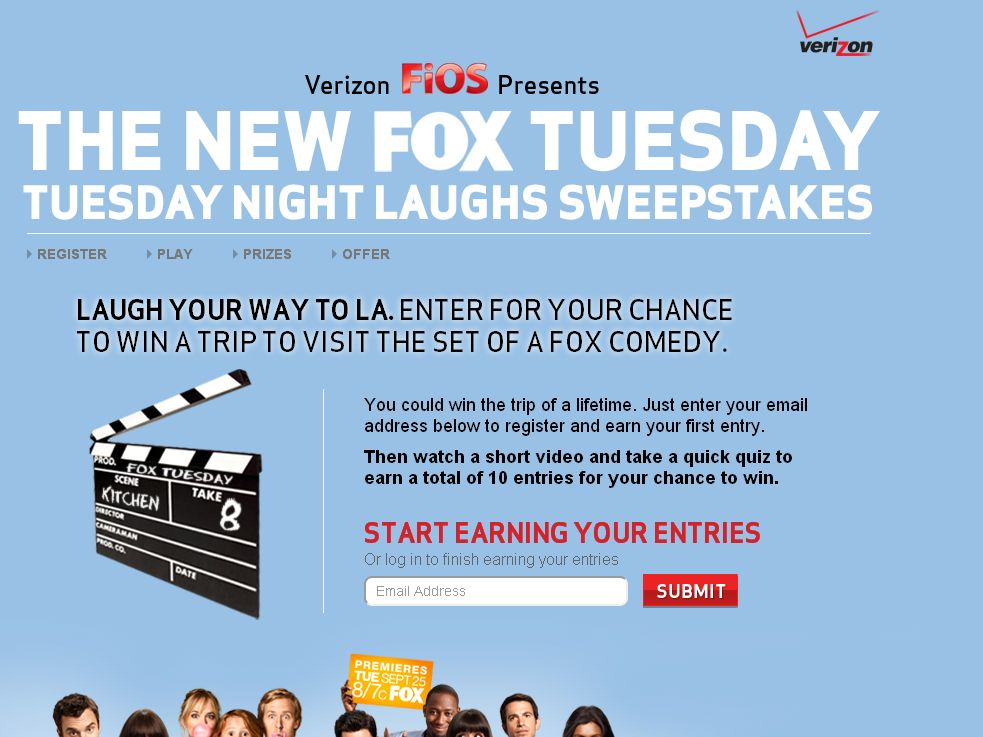 The Verizon FiOS presents FOX Tuesday Night Laughs Sweepstakes!