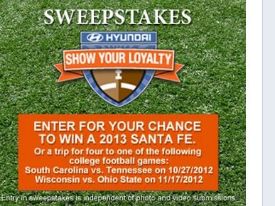Hyundai Show Your Loyalty Sweepstakes