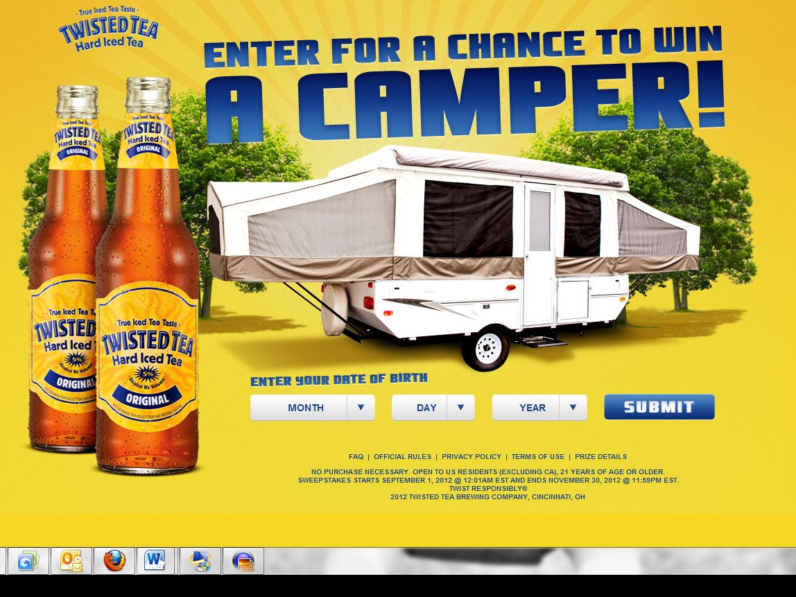 Twisted Tea Twist Up Your Camping Trip Sweepstakes