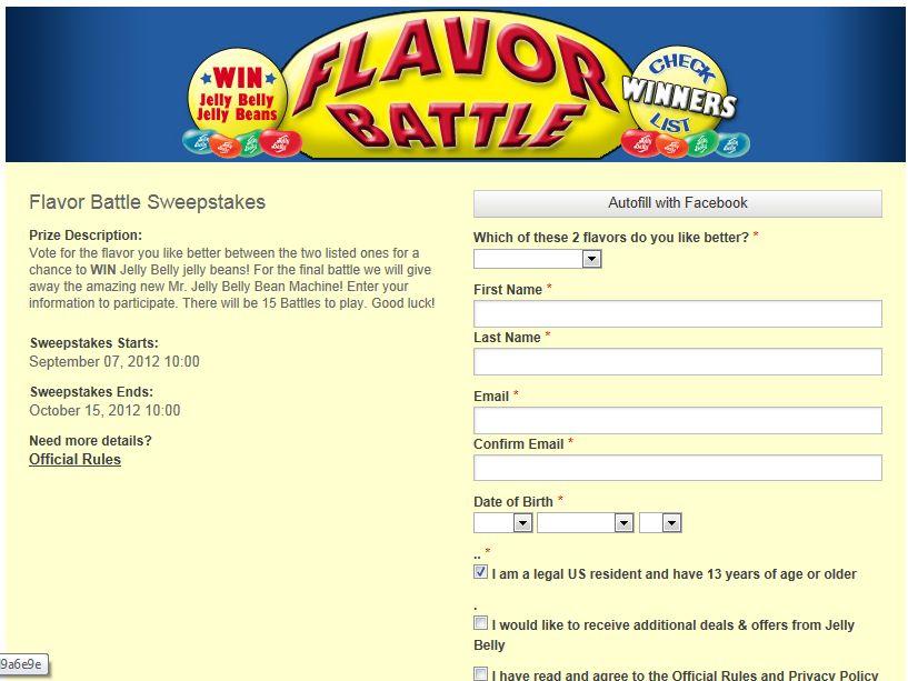 Flavor Battle Sweepstakes