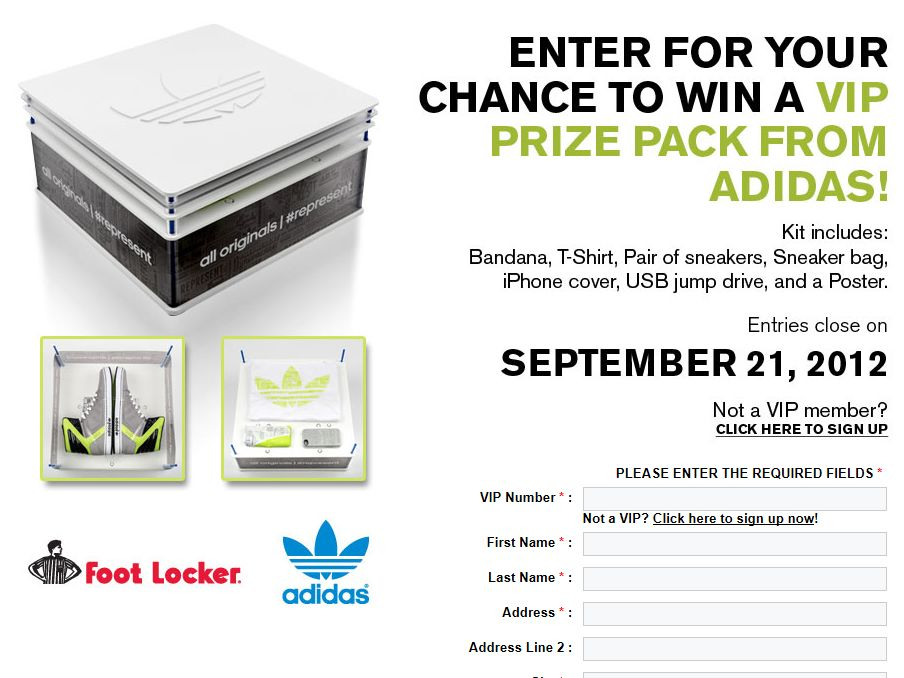 Foot Locker Adidas Sweepstakes