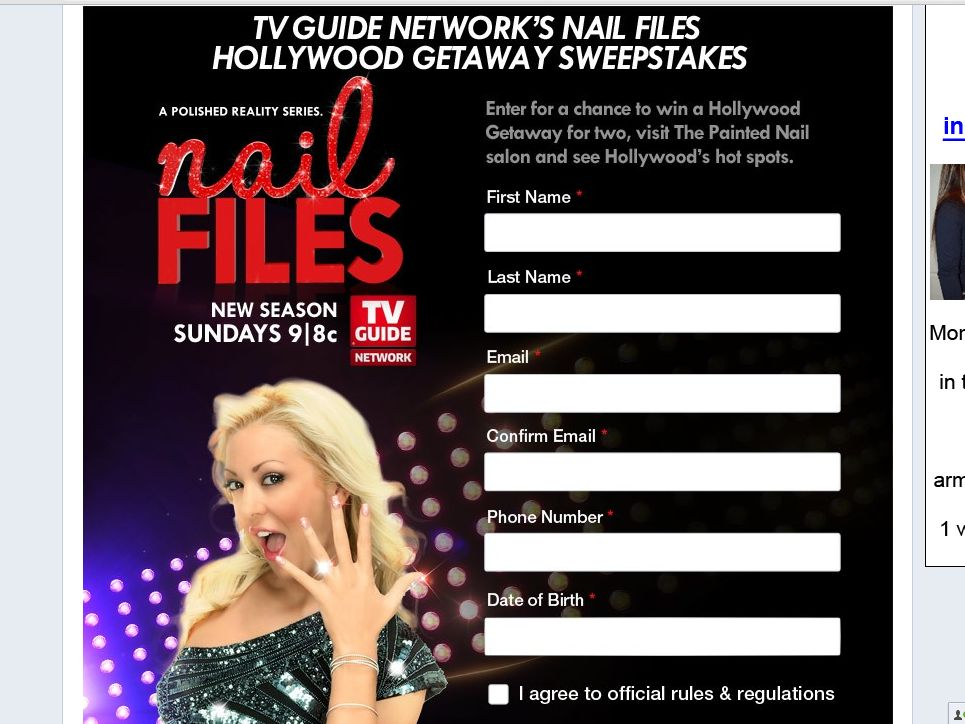 TV Guide Network's Nail Files Hollywood Getaway Sweepstakes!