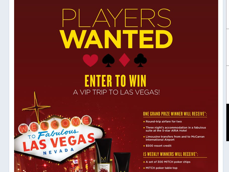MITCH Players Wanted Sweepstakes!