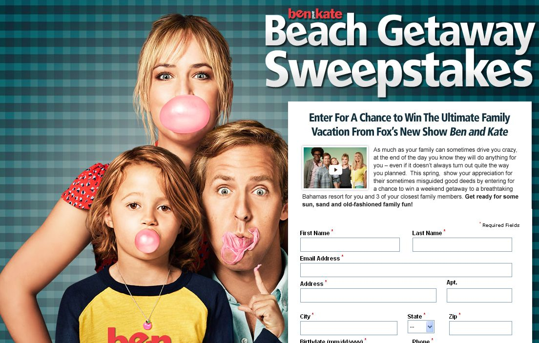The Ben and Kate's Beach Getaway Sweepstakes!
