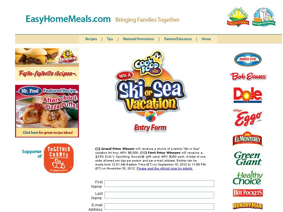 The Cool Food For Kids Sweepstakes!