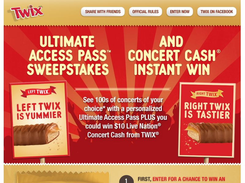 TWIX Gives You More Sweepstakes!
