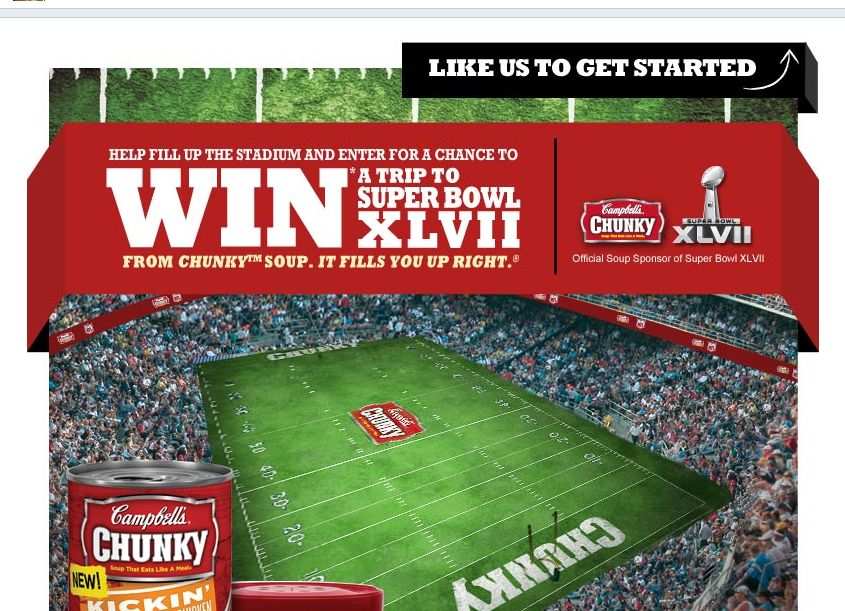 Chunky Filled Up Right Sweepstakes and Instant Win Game!