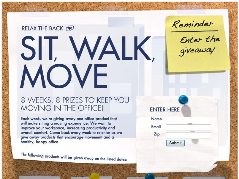 Relax the Back Sit, Walk, Move Giveaway