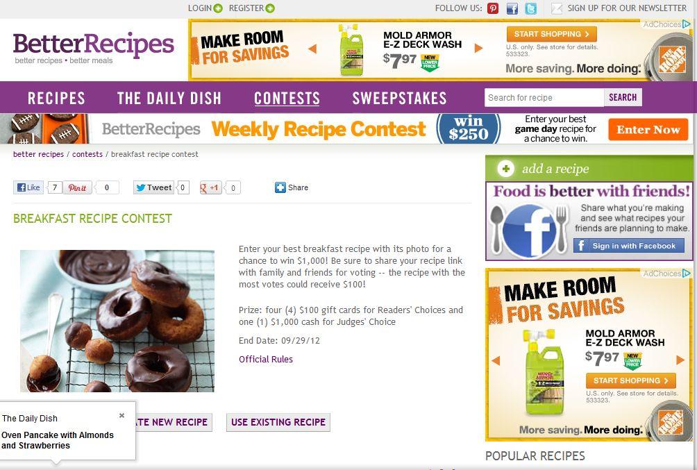 Better Recipes Breakfast Recipe Contest