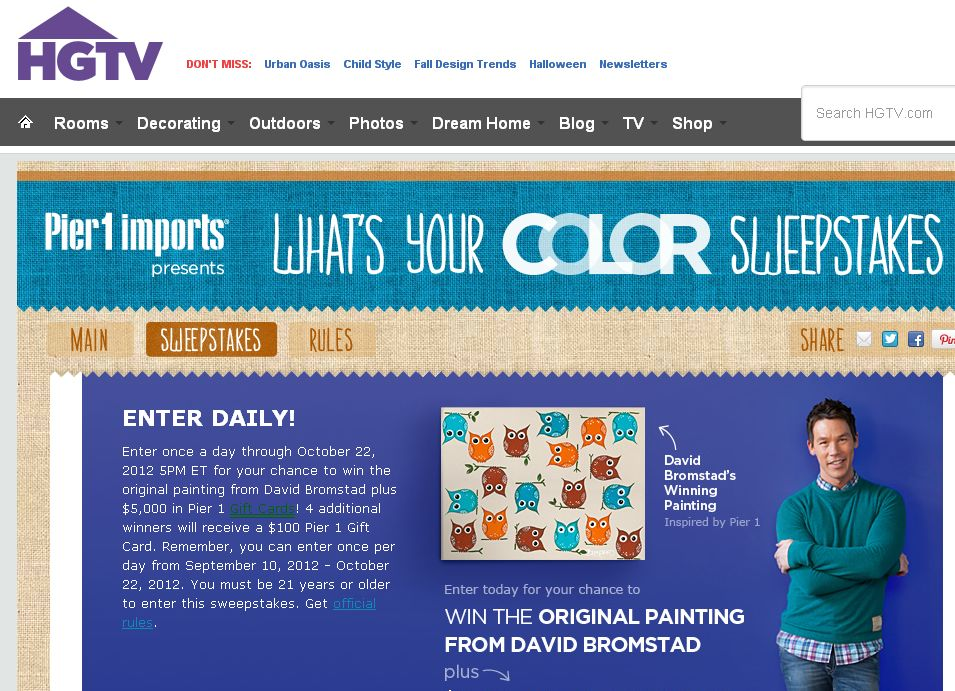 The What's Your Color? Sweepstakes!