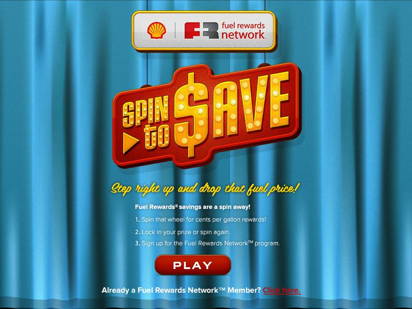 The Shell and the Fuel Rewards Network program Spin To Save Instant Win Game!