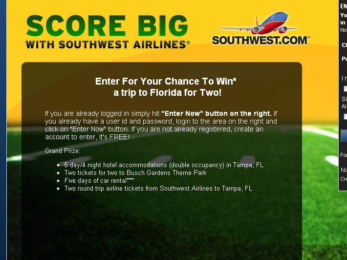 The Score Big With Southwest Airlines Sweepstakes!