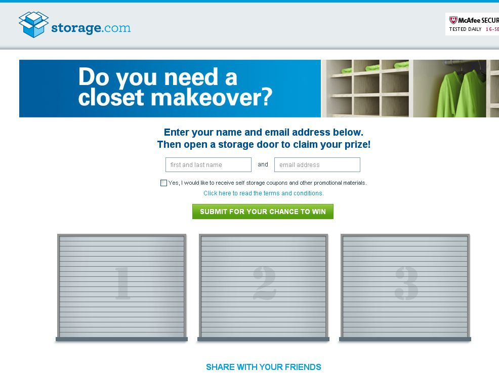 The Storage.com Giveaway Sweepstakes!