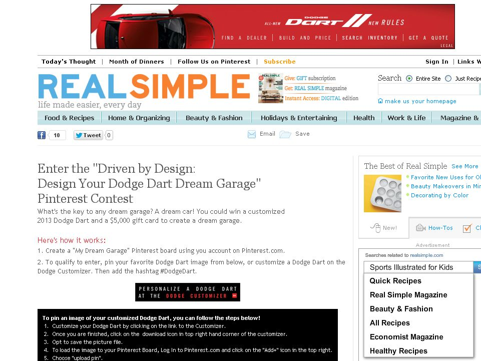 Design Your Dodge Dart Dream Garage Contest!