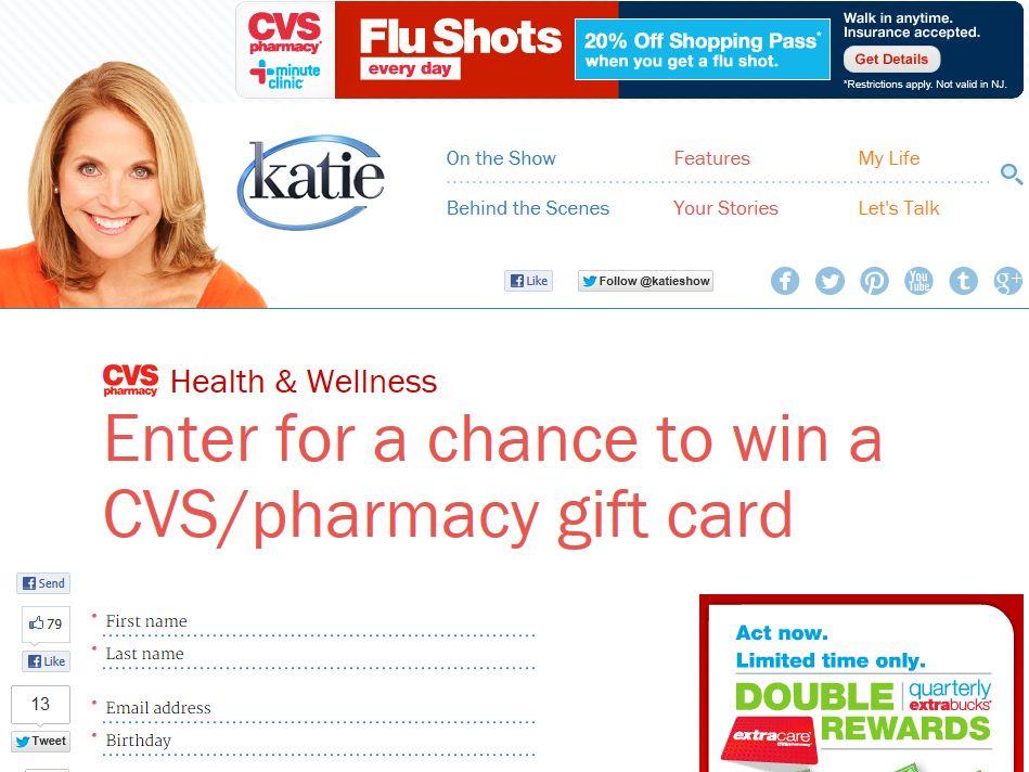 Katie CVS/pharmacy Sweepstakes