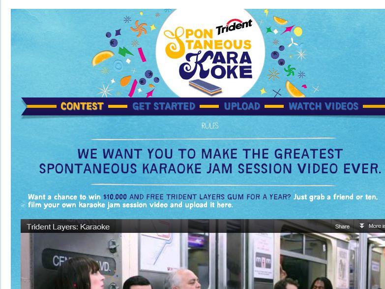 Trident Layers Spontaneous Karaoke Contest!