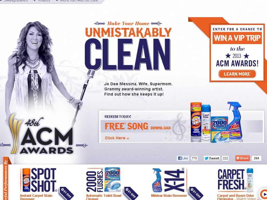 The WD-40 Company  Win a VIP Trip to the 2013 Academy of Country Music Awards Sweepstakes!