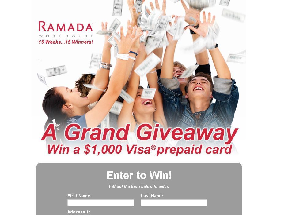 The A Grand Giveaway Sweepstakes!
