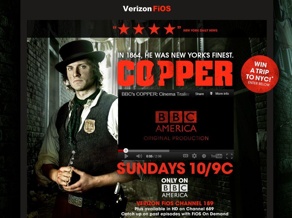 BBC America's / Verizon FiOS  Copper Sweepstakes!