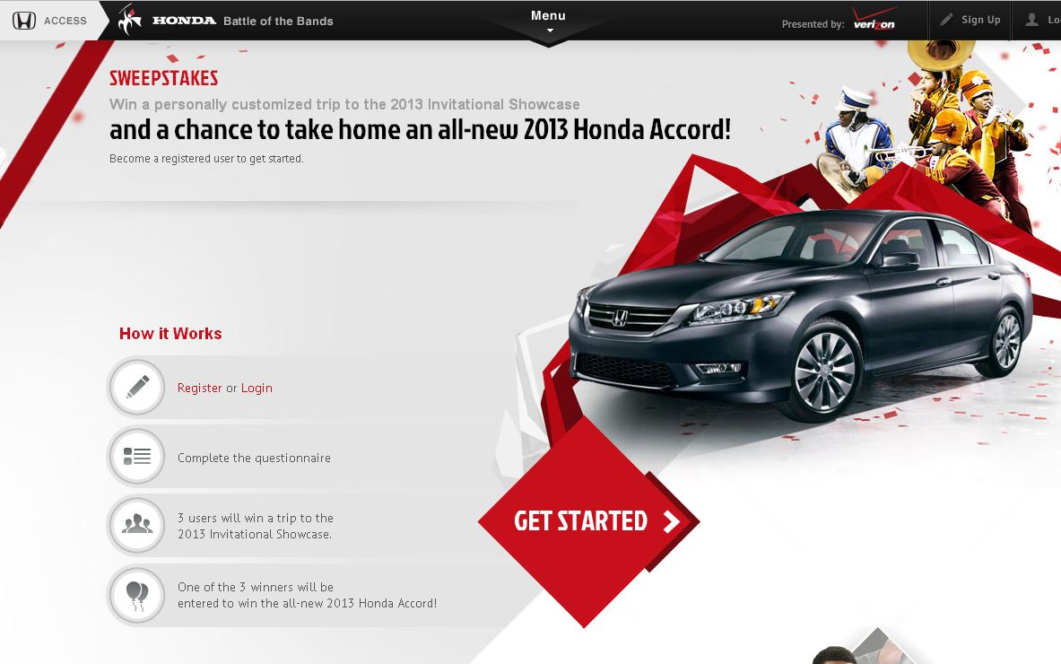 The 2013 Honda Battle of the Bands  Sweepstakes!