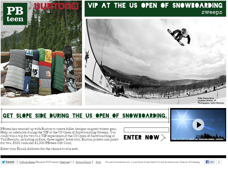 VIP at the US Open of Snowboarding Sweeps!