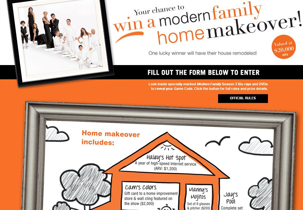 The Modern Family Home Makeover Instant Win Game!