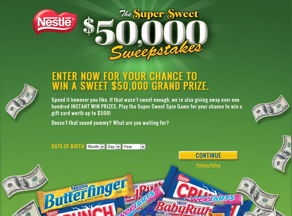Super Sweet $50,000 Sweepstakes