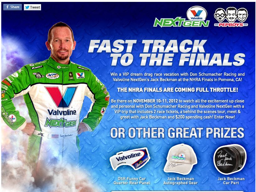 Pep Boys NextGen's Fast Track to the Finals Sweepstakes
