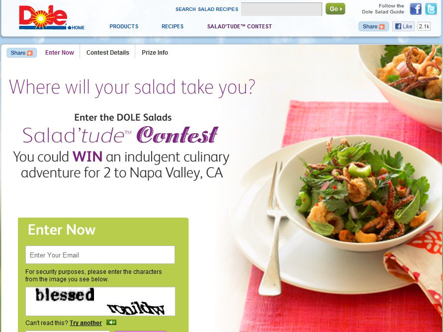 Dole Salads Salad'tude Contest