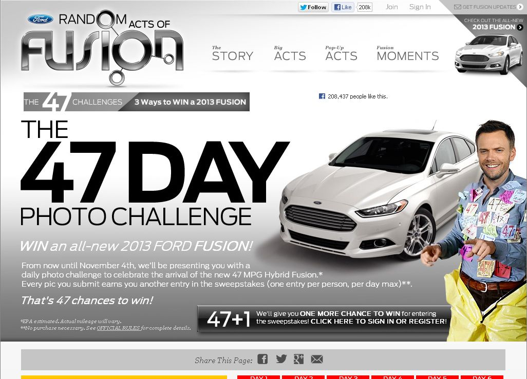 The Ford 47 Day Challenge Sweepstakes!