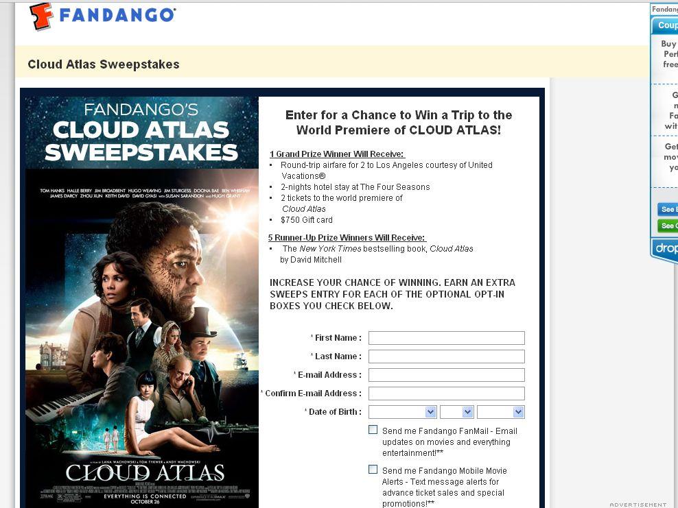 Fandango's Cloud Atlas Sweepstakes!