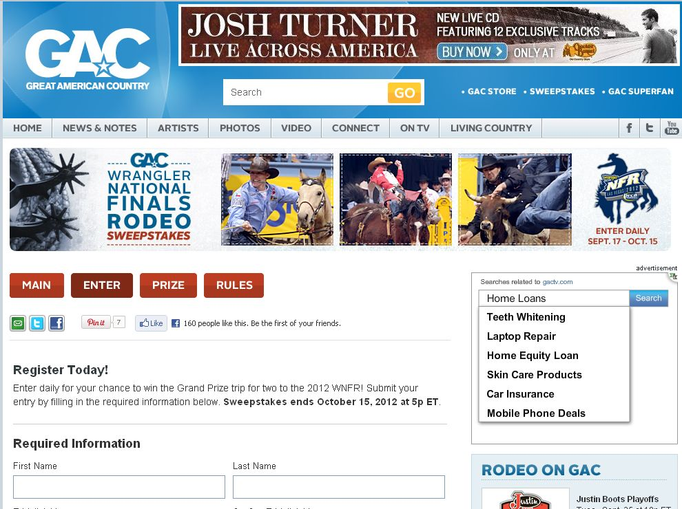 Gac's Wrangler National Finals Rodeo Sweepstakes!