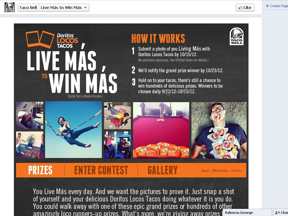 Live Más for a chance to Win Más!