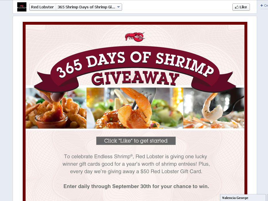 The Red Lobster 365 Days of Shrimp Giveaway Sweepstakes!