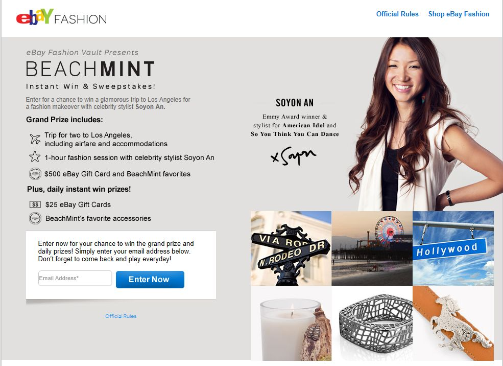 BeachMINT Instant Win & Sweepstakes