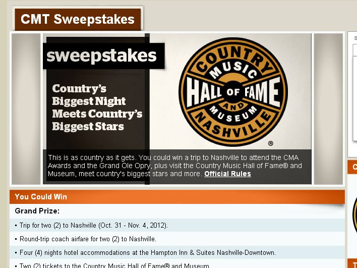Country's Biggest Night Meets Country's Biggest Stars Sweepstakes
