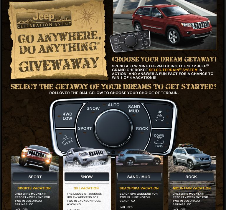 Jeep Celebration Go Anywhere, Do Anything Sweepstakes