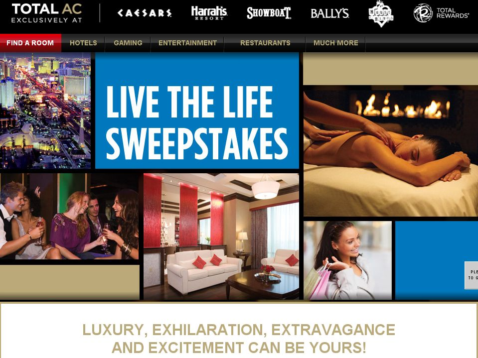 Caesars Live the Life Sweepstakes