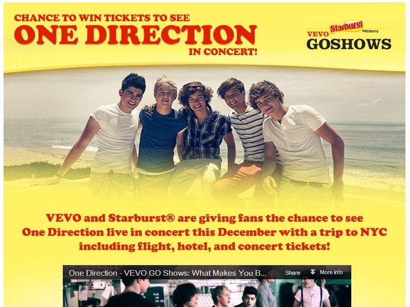 One Direction Flyaway Sweepstakes