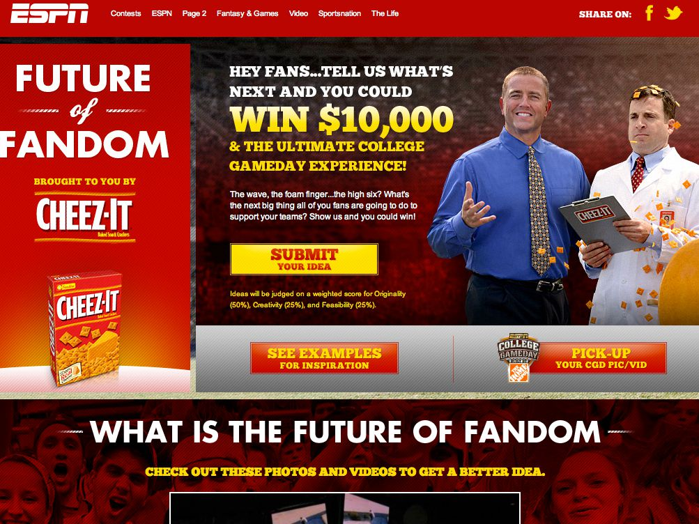 Cheez-It Future of Fandom Contest