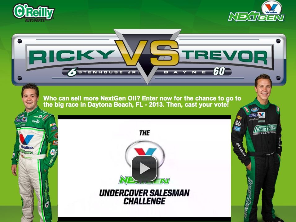 O'Reilly Auto Parts Ricky vs. Trevor Sweepstakes
