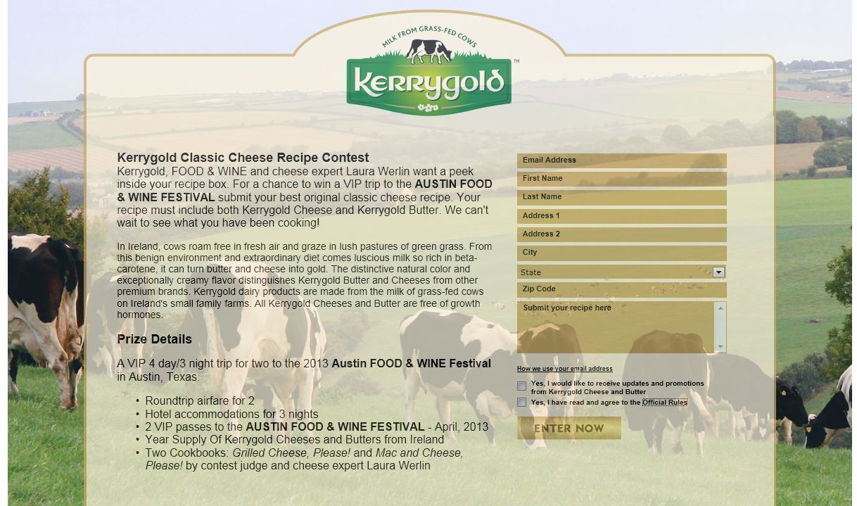 Kerrygold Classic Cheese Recipe Contest